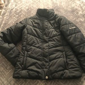 Columbia Black Jacket Size XS  (no hood) like new